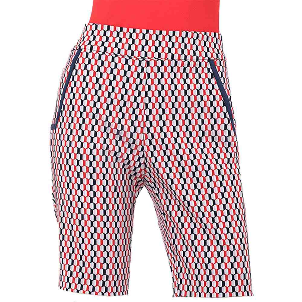 EPNY レディース ゴルフ ショートパンツ ボトムス・パンツ【EP Pro Hexagon Print Golf Shorts】Inky Multi