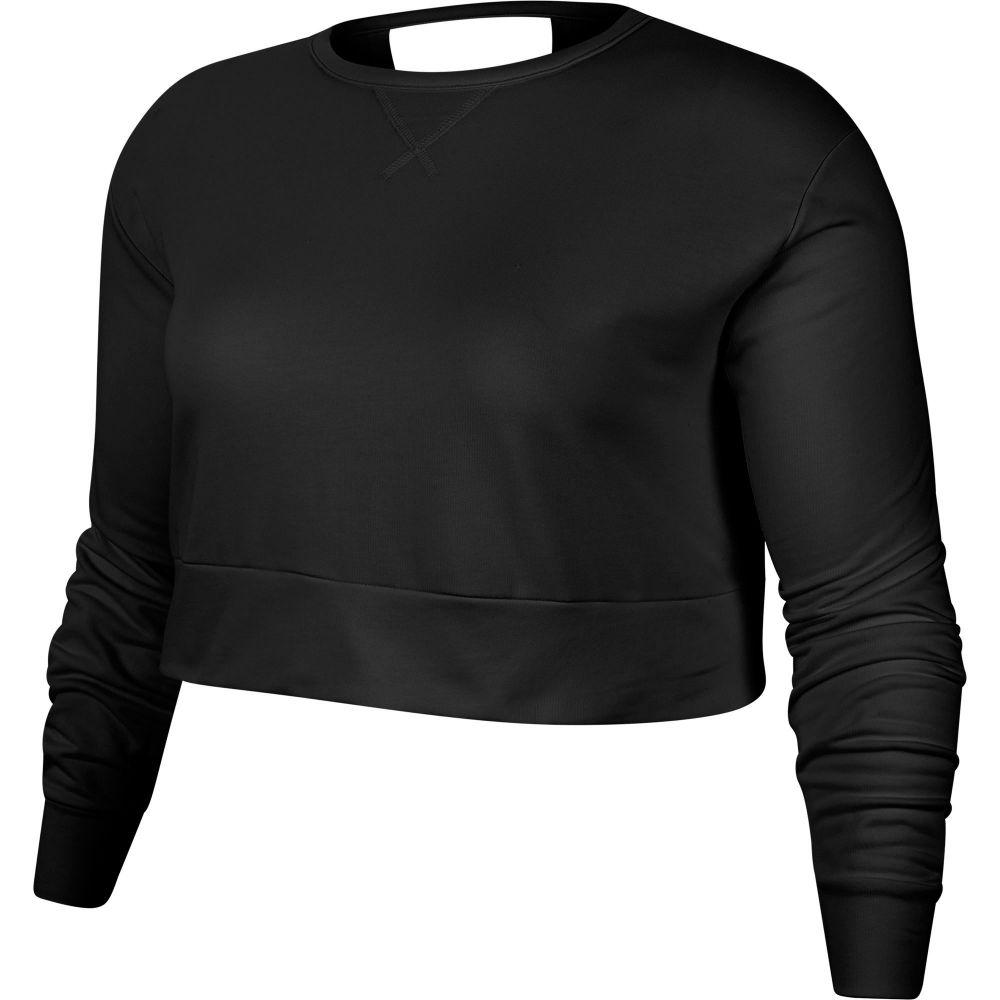 ナイキ Nike レディース ヨガ・ピラティス 大きいサイズ トップス【Plus Size Yoga Long Sleeve Open Back Training Top】Black