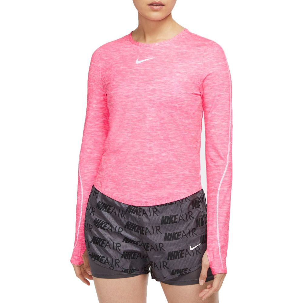 ナイキ Nike レディース ランニング・ウォーキング ドライフィット トップス【Dri-FIT Running Long Sleeve Shirt】Pink Foam