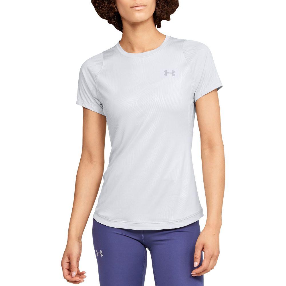 アンダーアーマー Under Armour レディース ランニング・ウォーキング Tシャツ トップス【Embossed Qualifier Iso-Chill Running T-Shirt】Halo Gray