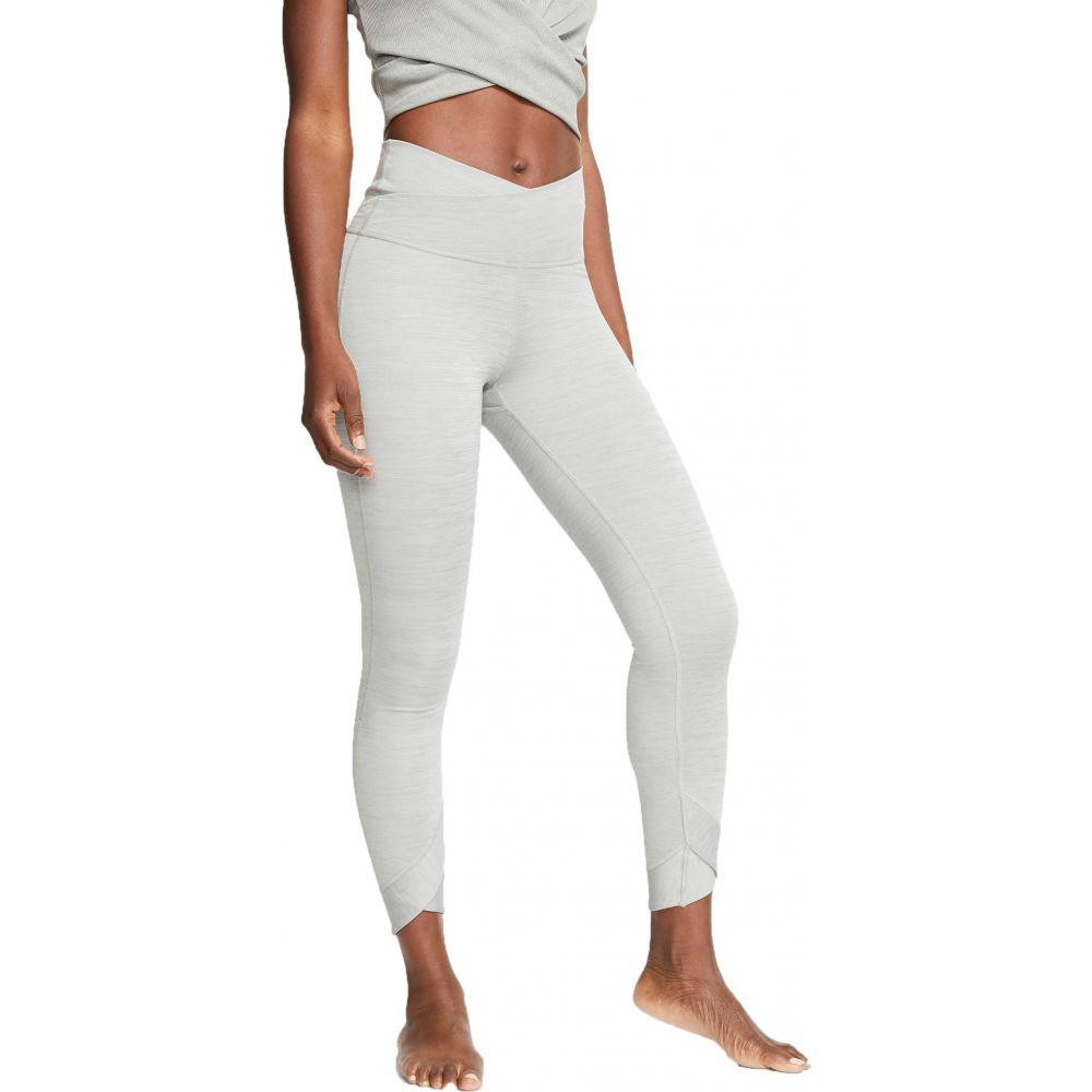 ナイキ Nike レディース ヨガ・ピラティス スパッツ・レギンス ボトムス・パンツ【Yoga Wrap 7/8 Tights】Particle Grey