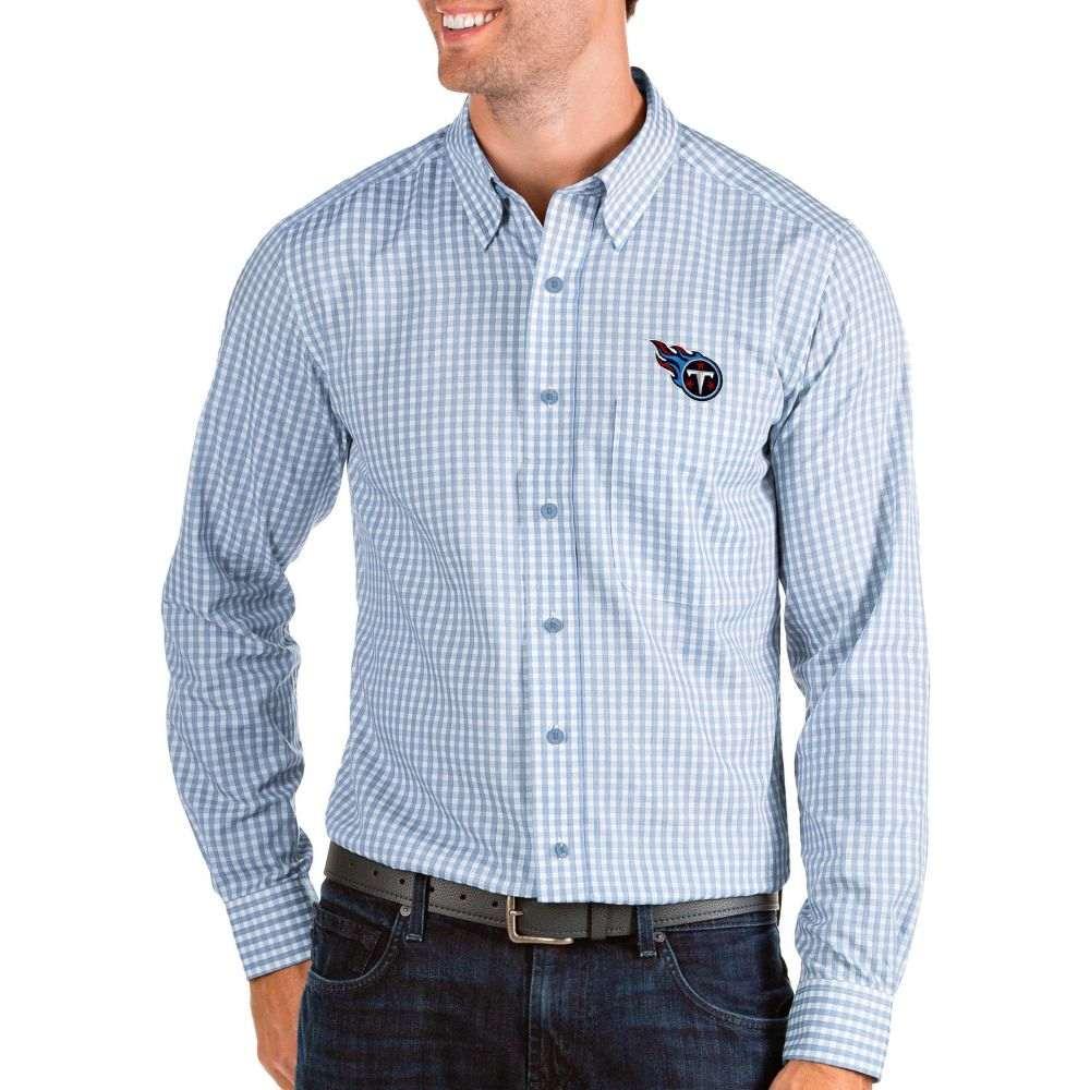 アンティグア Antigua メンズ シャツ トップス【Tennessee Titans Structure Button Down Blue Dress Shirt】