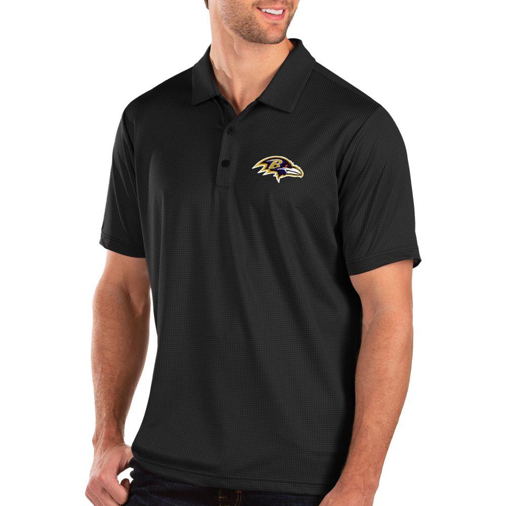 アンティグア Antigua メンズ ポロシャツ トップス【Baltimore Ravens Balance Black Polo】