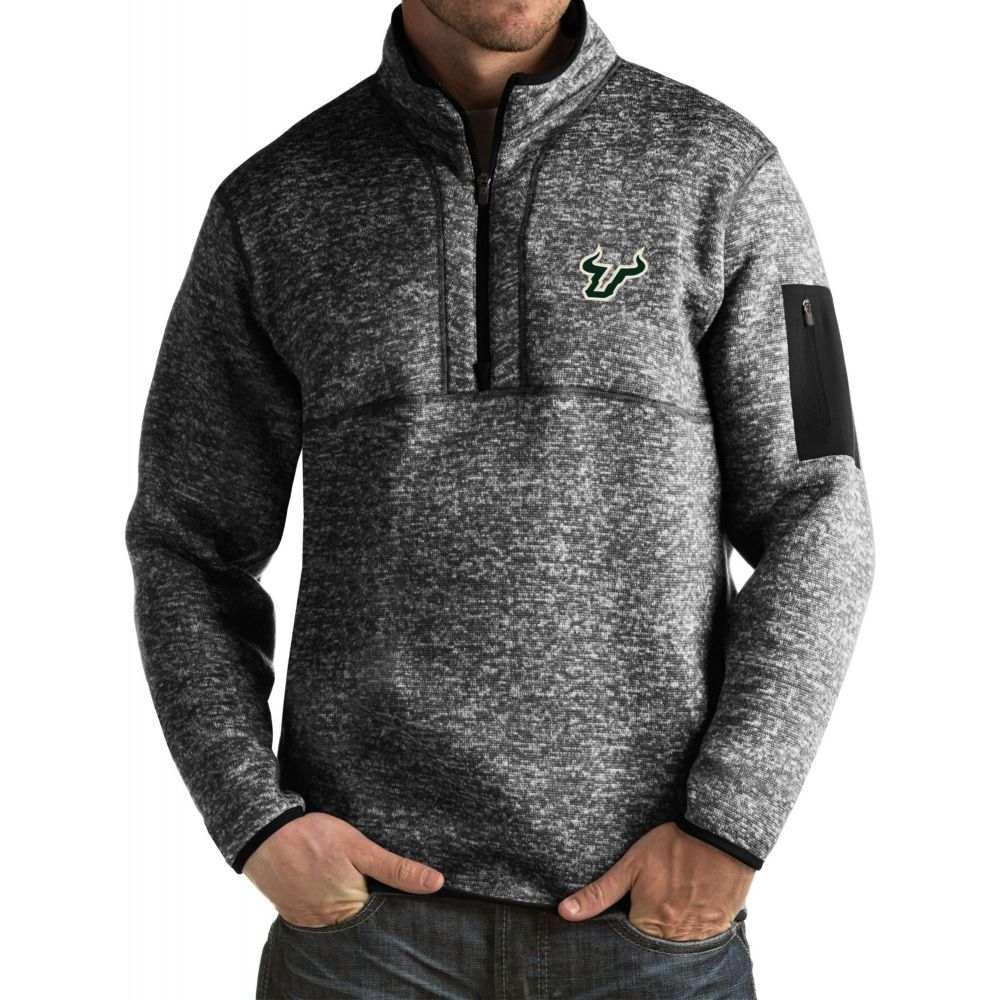アンティグア Antigua メンズ ジャケット アウター【South Florida Bulls Black Fortune Pullover Jacket】