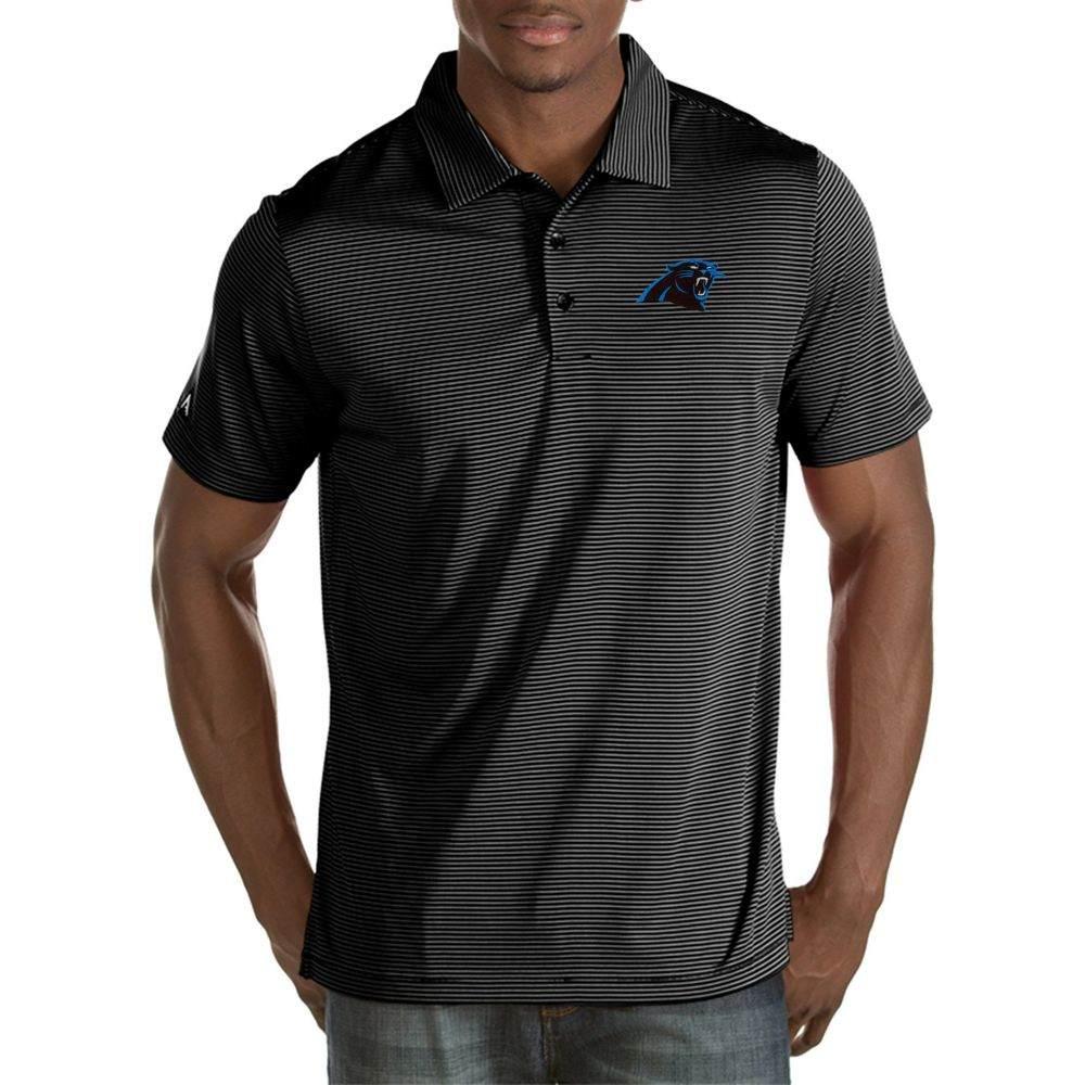アンティグア Antigua メンズ ポロシャツ トップス【Carolina Panthers Quest Black Polo】