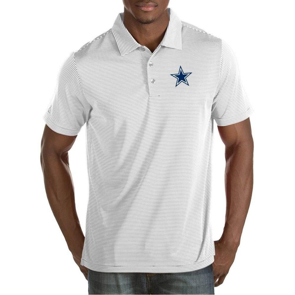 アンティグア Antigua メンズ ポロシャツ トップス【Dallas Cowboys Quest White Polo】