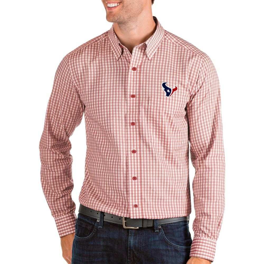 アンティグア Antigua メンズ シャツ トップス【Houston Texans Structure Button Down Red Dress Shirt】