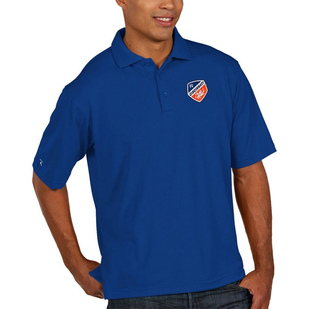アンティグア Antigua メンズ ポロシャツ トップス【FC Cincinnati Pique Royal Polo】