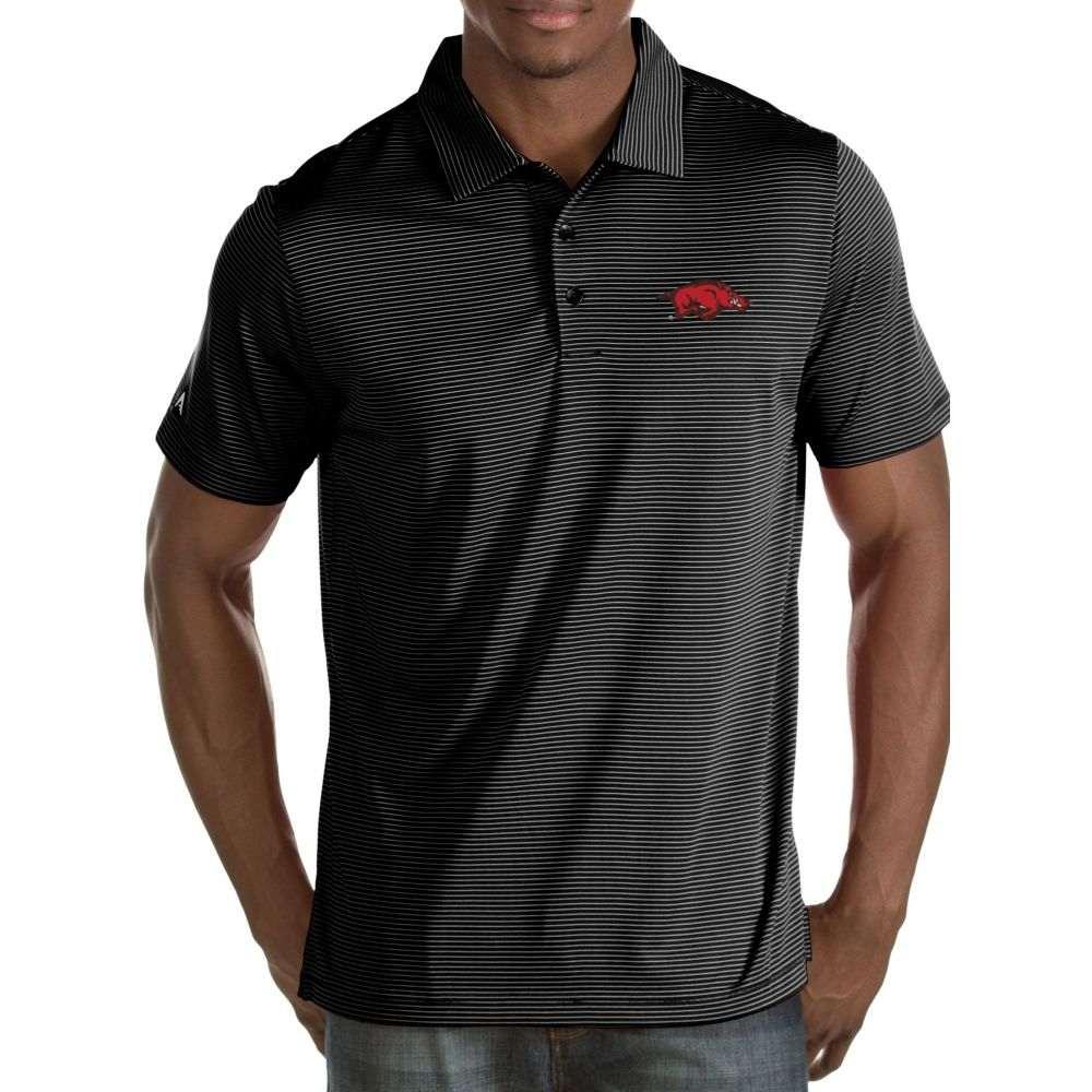 アンティグア Antigua メンズ ポロシャツ トップス【Arkansas Razorbacks Black Quest Polo】