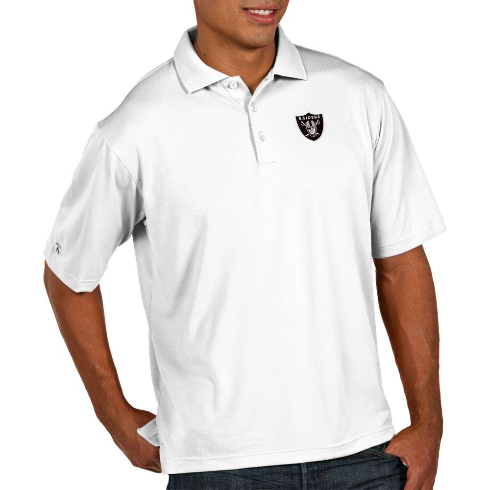 アンティグア Antigua メンズ ポロシャツ トップス【Oakland Raiders Pique Xtra-Lite Performance White Polo】