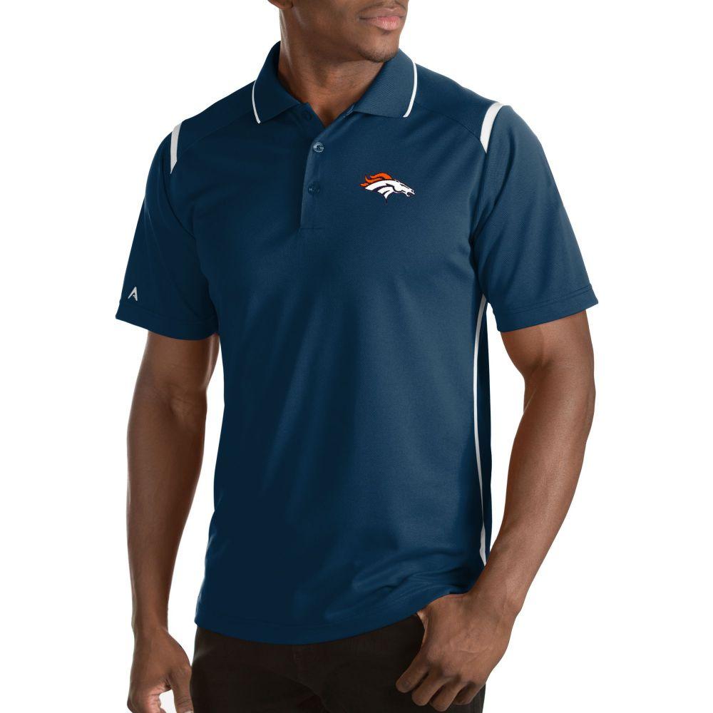 アンティグア Antigua メンズ ポロシャツ トップス【Denver Broncos Merit Navy Xtra-Lite Polo】