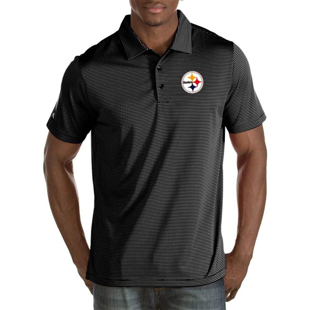 アンティグア Antigua メンズ ポロシャツ トップス【Pittsburgh Steelers Quest Black Polo】