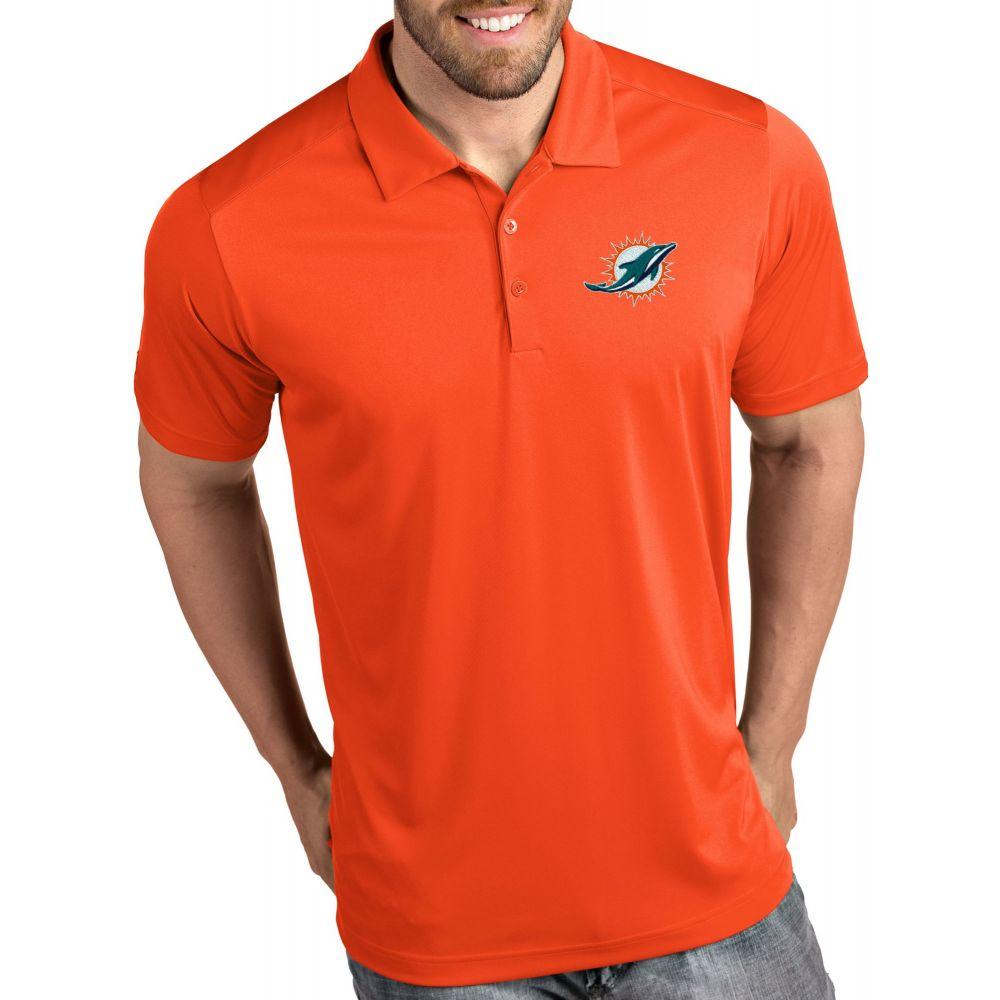 アンティグア Antigua メンズ ポロシャツ トップス【Miami Dolphins Tribute Orange Polo】