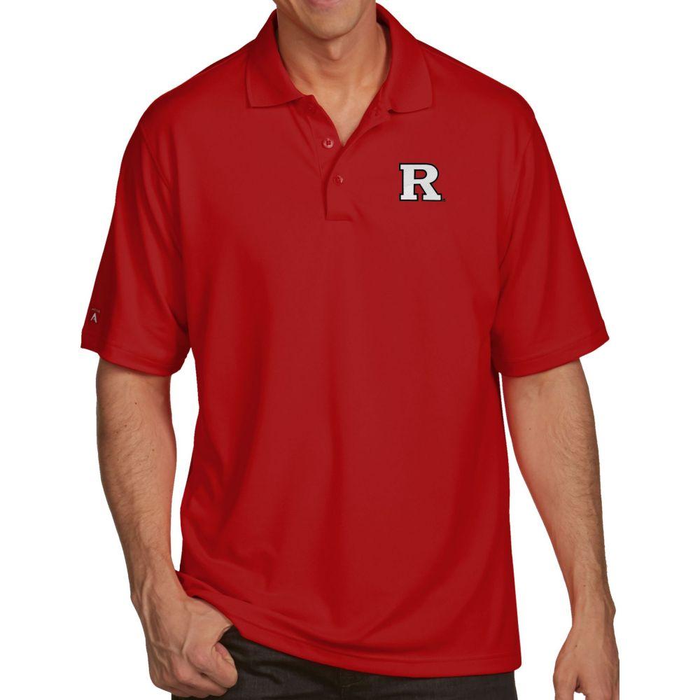 アンティグア Antigua メンズ ポロシャツ トップス【Rutgers Scarlet Knights Scarlet Pique Xtra-Lite Polo】
