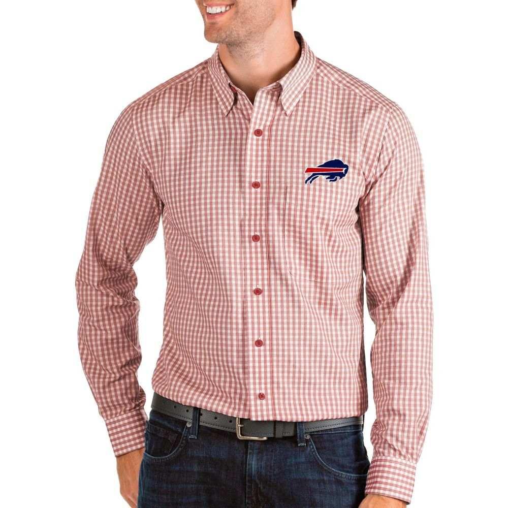 アンティグア Antigua メンズ シャツ トップス【Buffalo Bills Structure Button Down Red Dress Shirt】