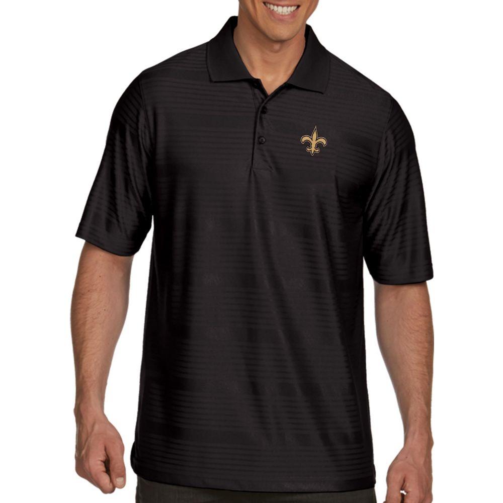 アンティグア Antigua メンズ ポロシャツ トップス【New Orleans Saints Illusion Black Xtra-Lite Polo】