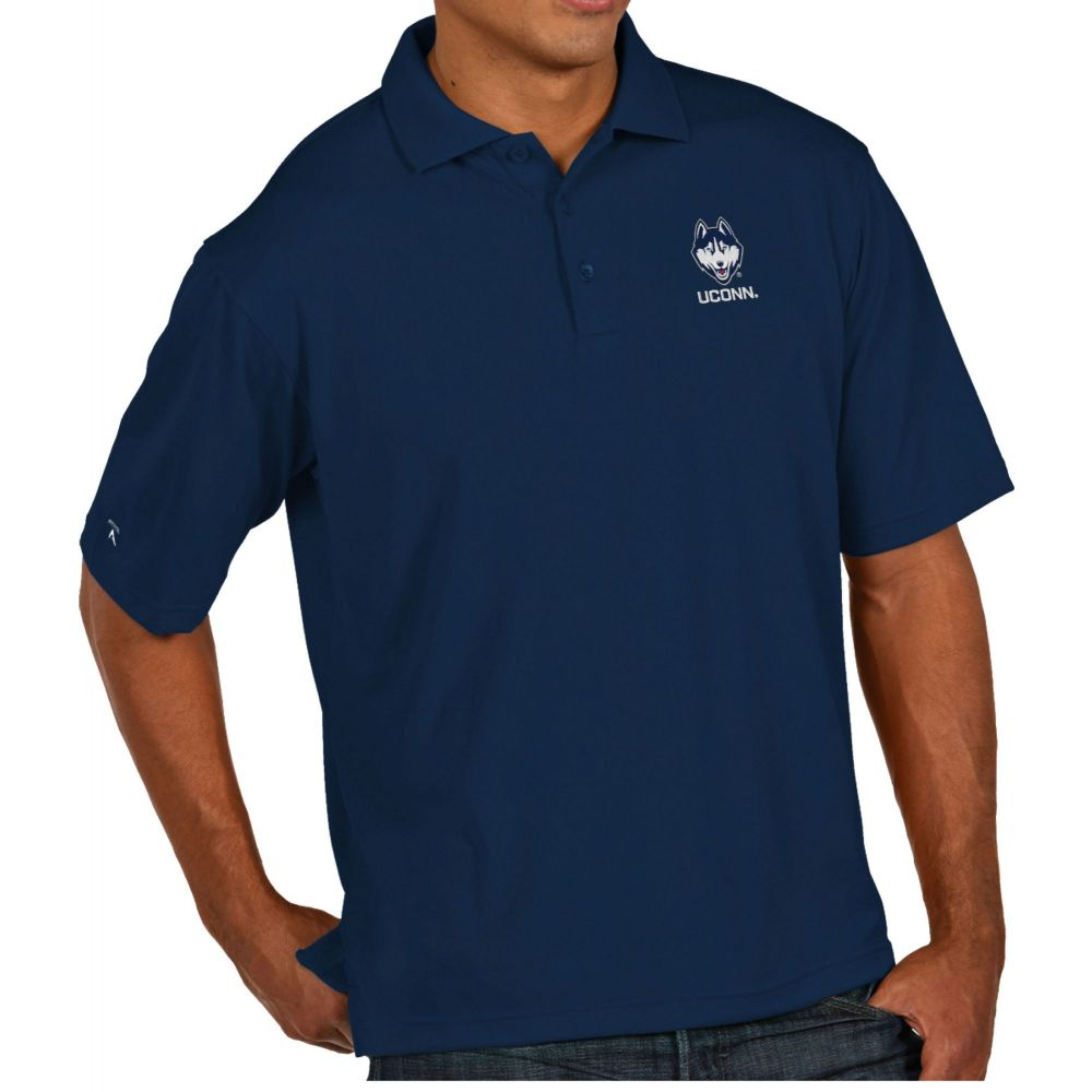 アンティグア Antigua メンズ ポロシャツ トップス【UConn Huskies Blue Pique Xtra-Lite Polo】