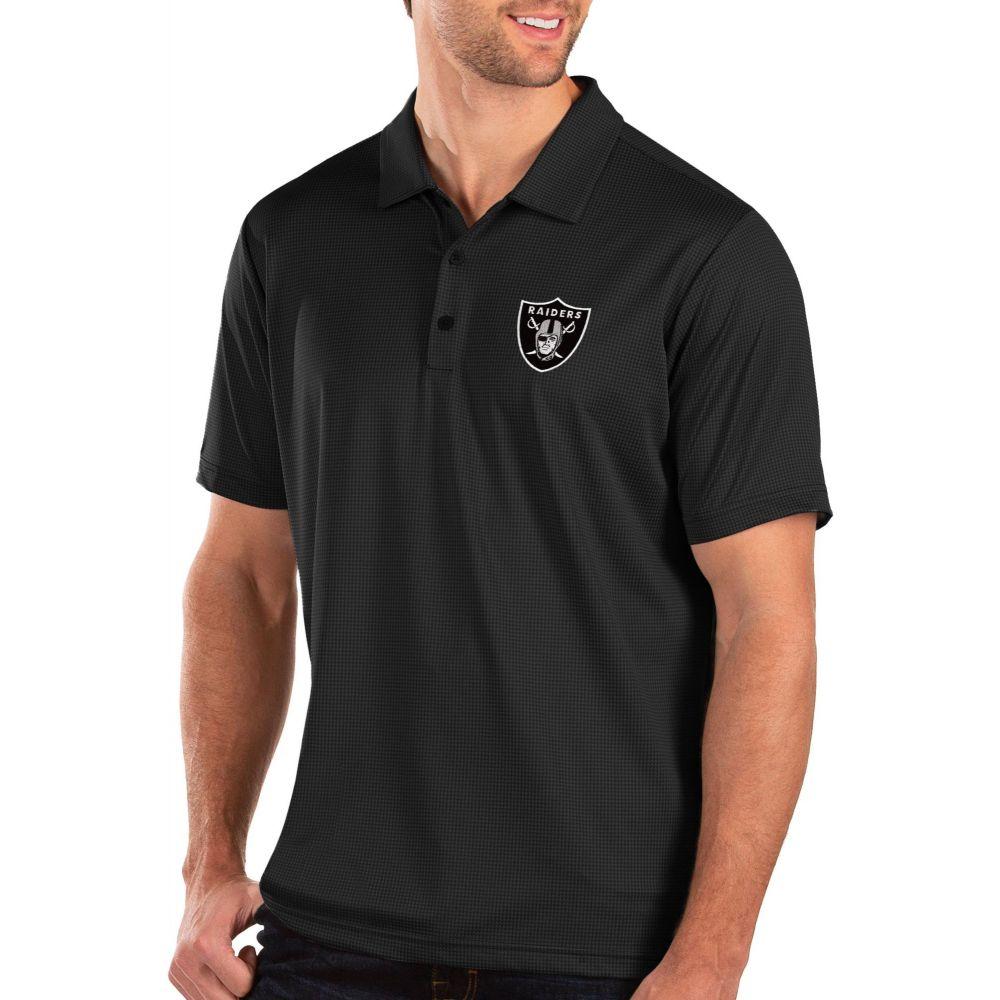 アンティグア Antigua メンズ ポロシャツ トップス【Oakland Raiders Balance Black Polo】