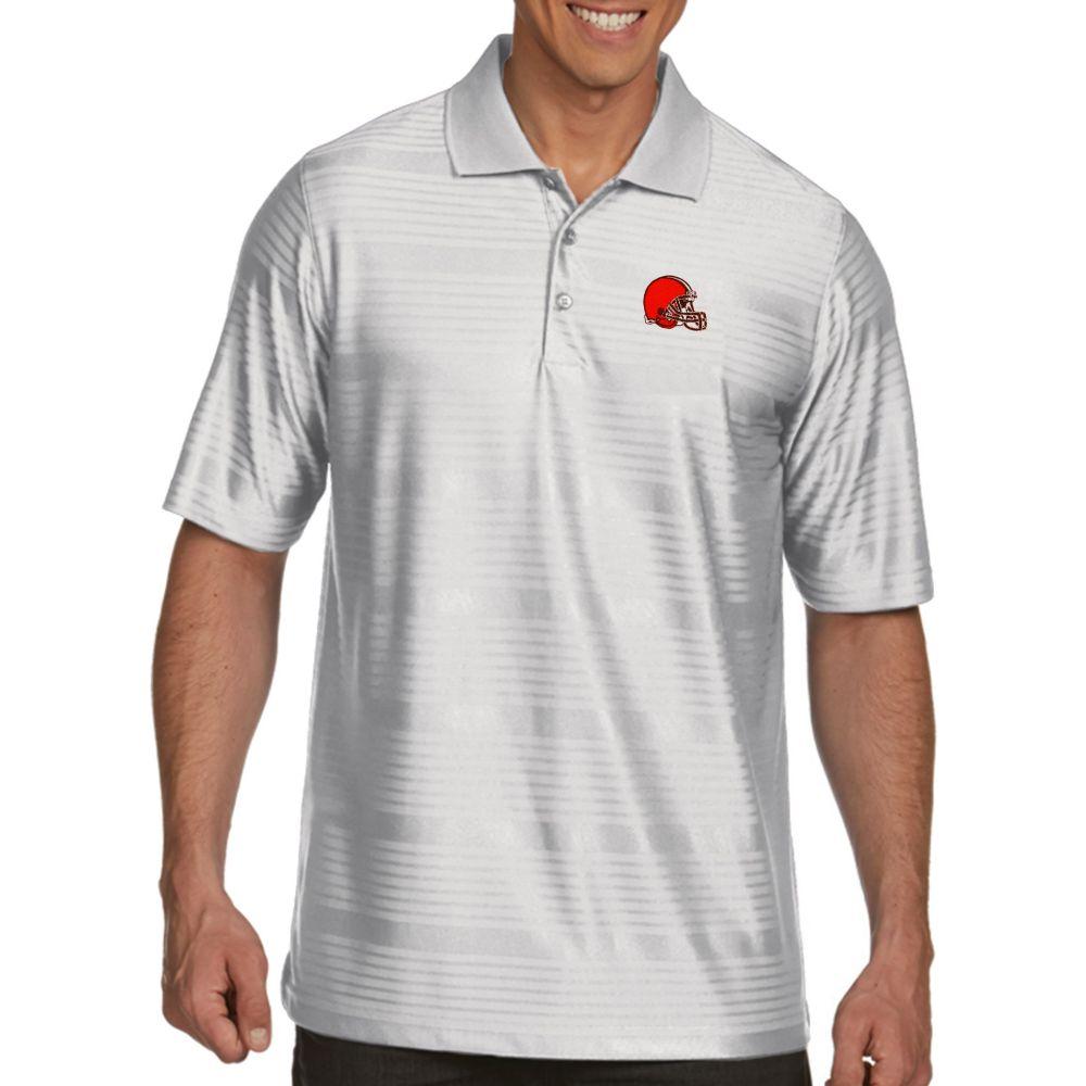 アンティグア Antigua メンズ ポロシャツ トップス【Cleveland Browns Illusion White Xtra-Lite Polo】