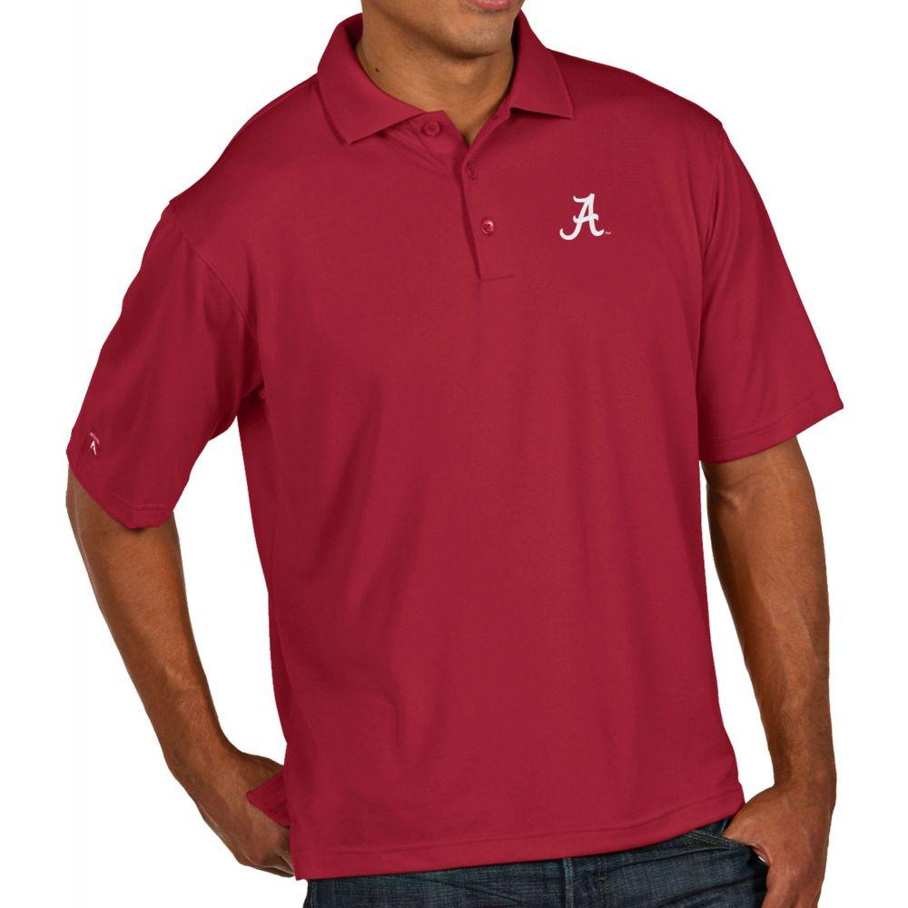 アンティグア Antigua メンズ ポロシャツ トップス【Alabama Crimson Tide Crimson Pique Xtra-Lite Polo】