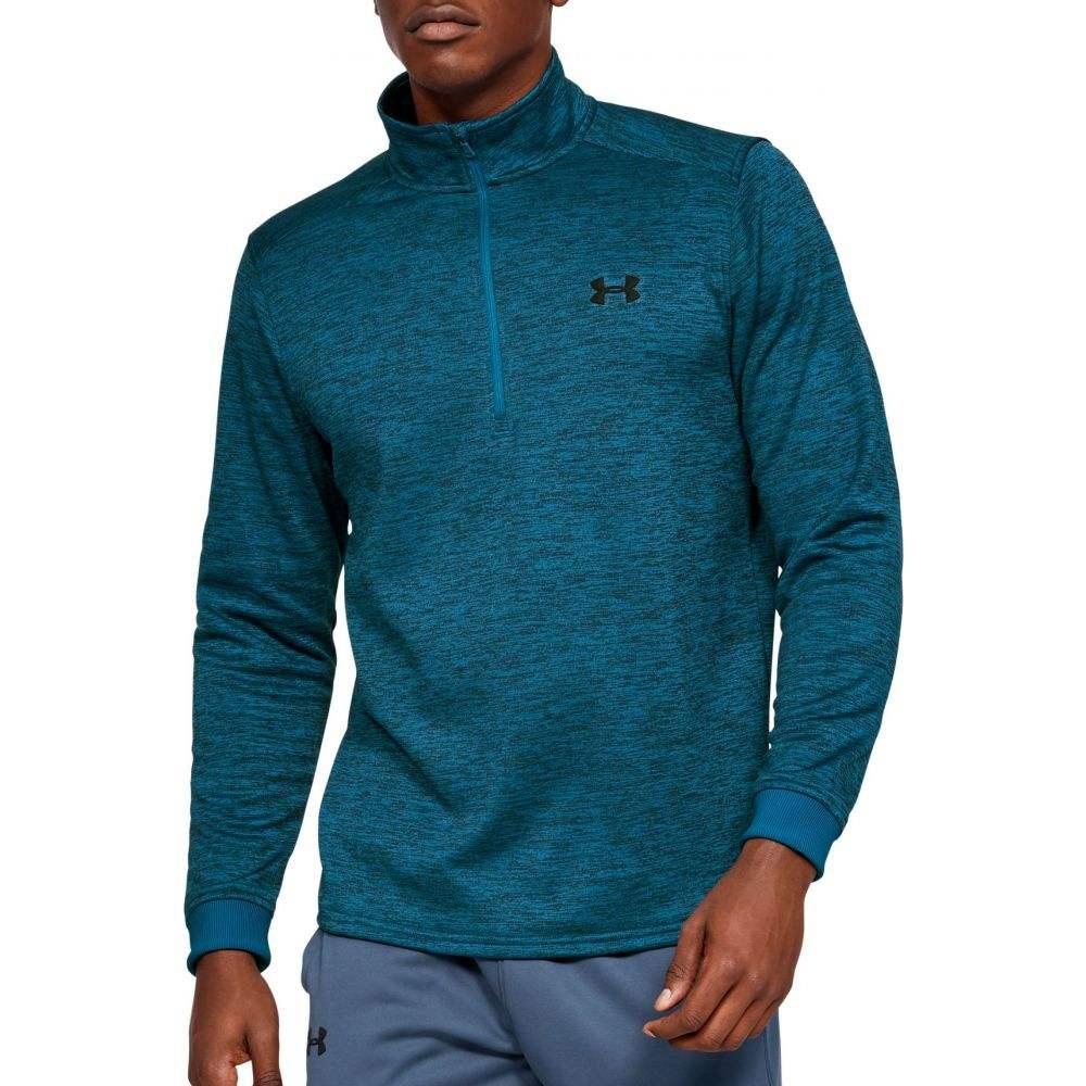 アンダーアーマー Under Armour メンズ フリース ハーフジップ トップス【Armour Fleece 1/2 Zip Long Sleeve Shirt (Regular and Big & Tall)】Teal Vibe