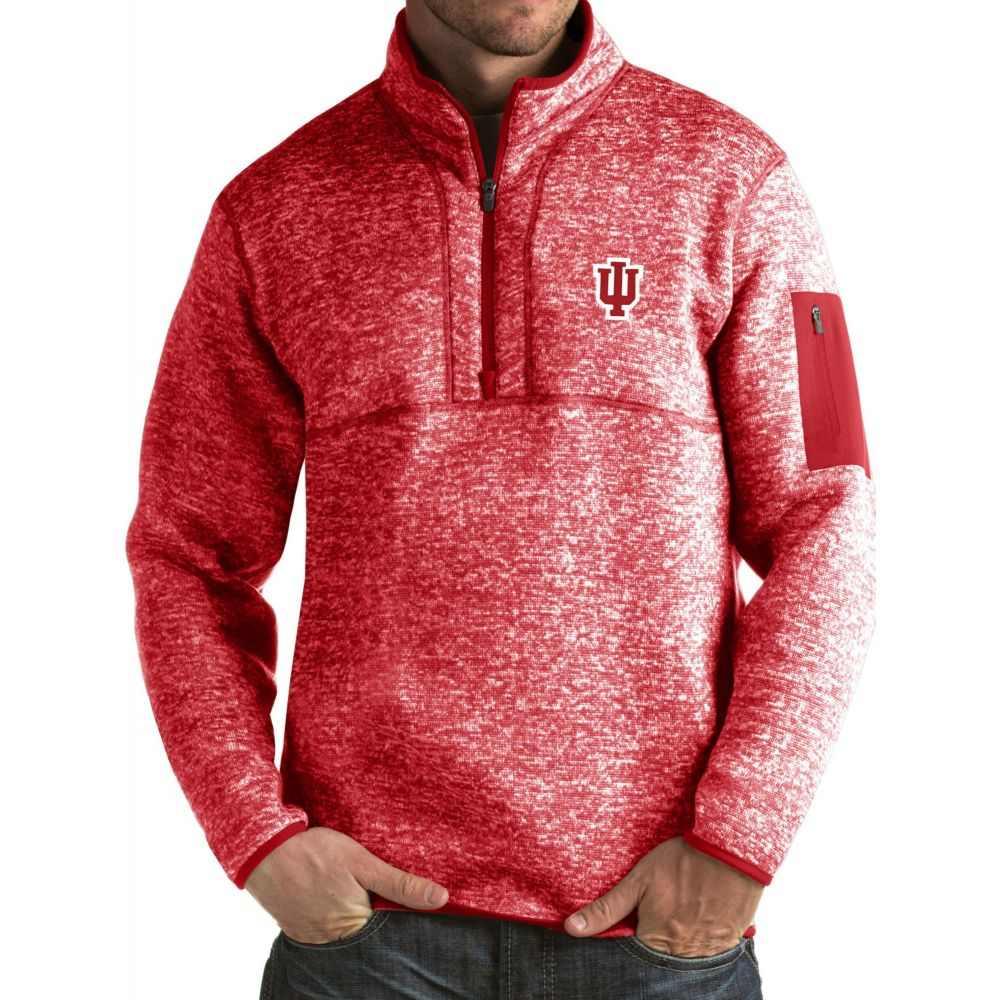 アンティグア Antigua メンズ ジャケット アウター【Indiana Hoosiers Crimson Fortune Pullover Jacket】