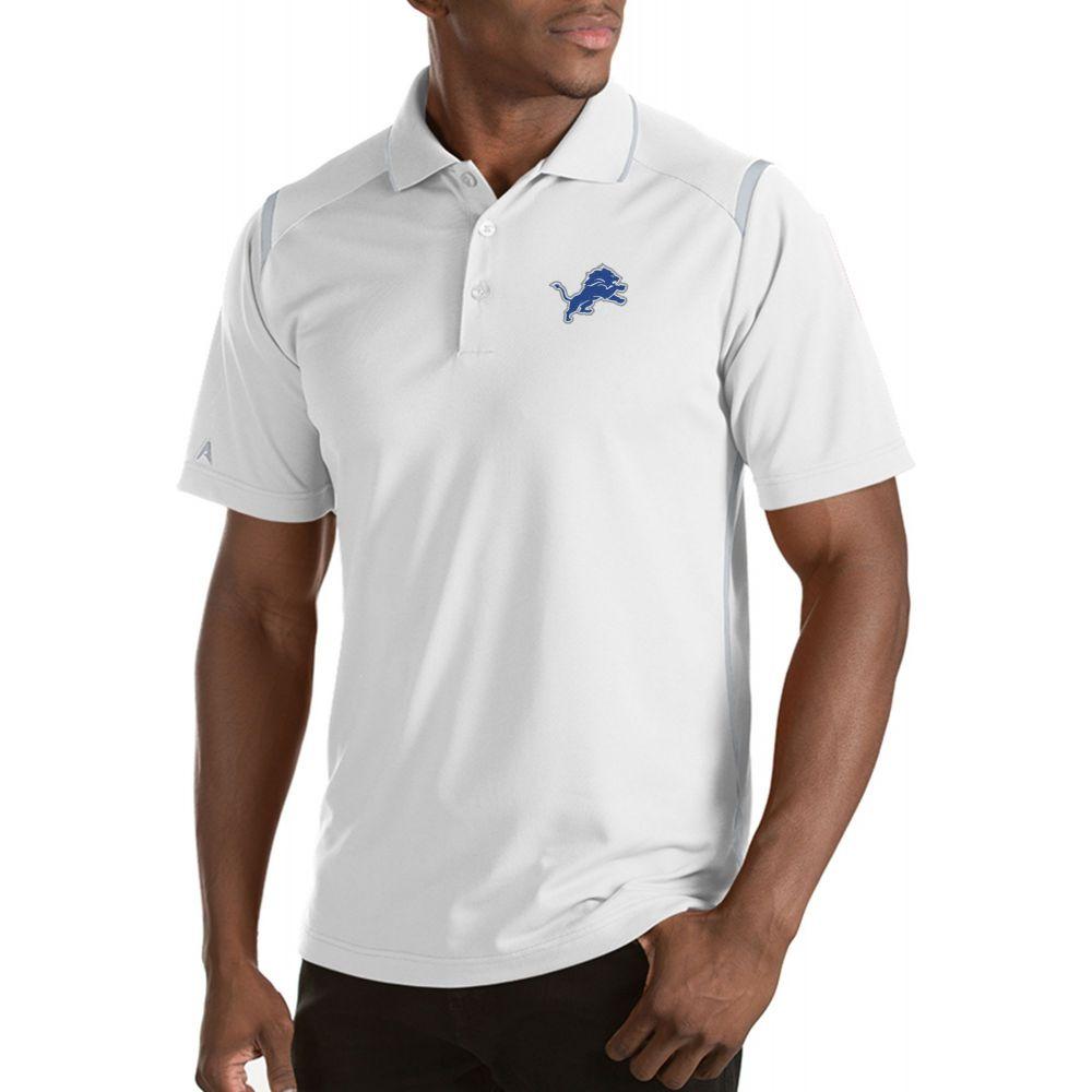 アンティグア Antigua メンズ ポロシャツ トップス【Detroit Lions Merit White Xtra-Lite Polo】