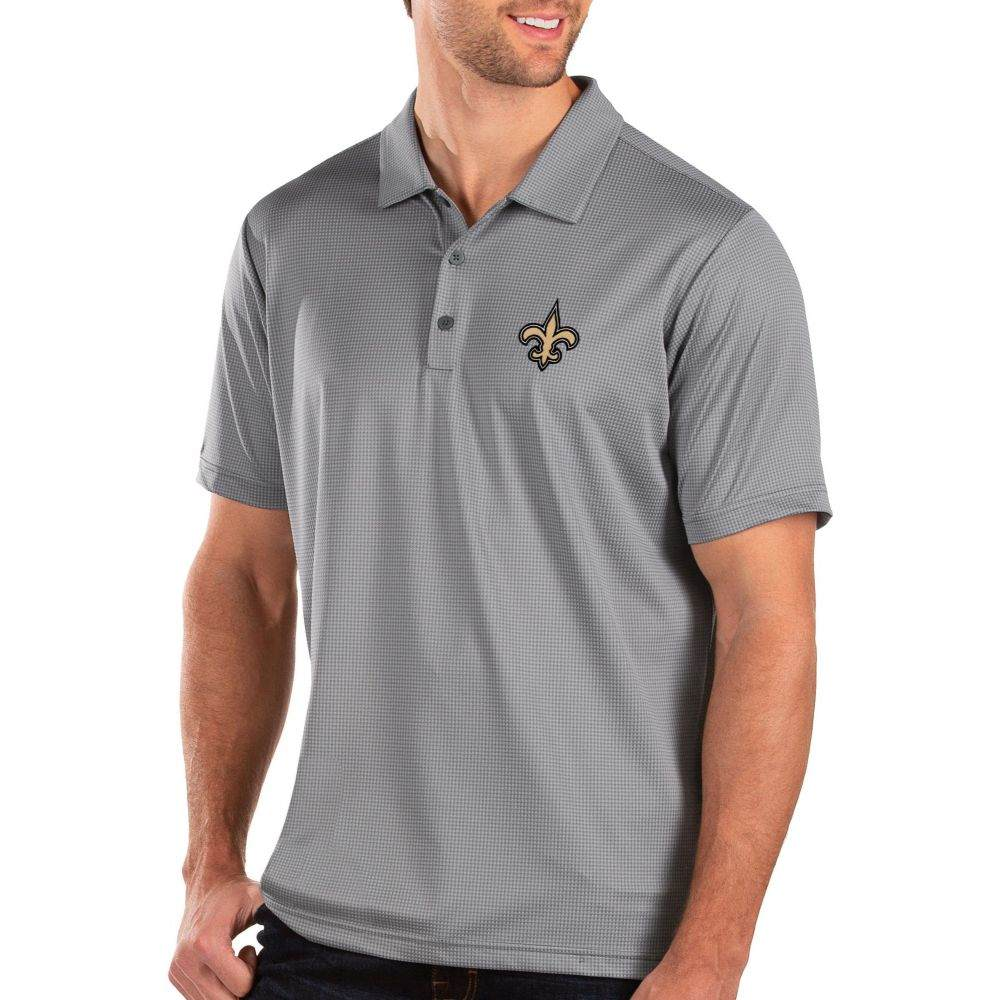 アンティグア Antigua メンズ ポロシャツ トップス【New Orleans Saints Balance Grey Polo】