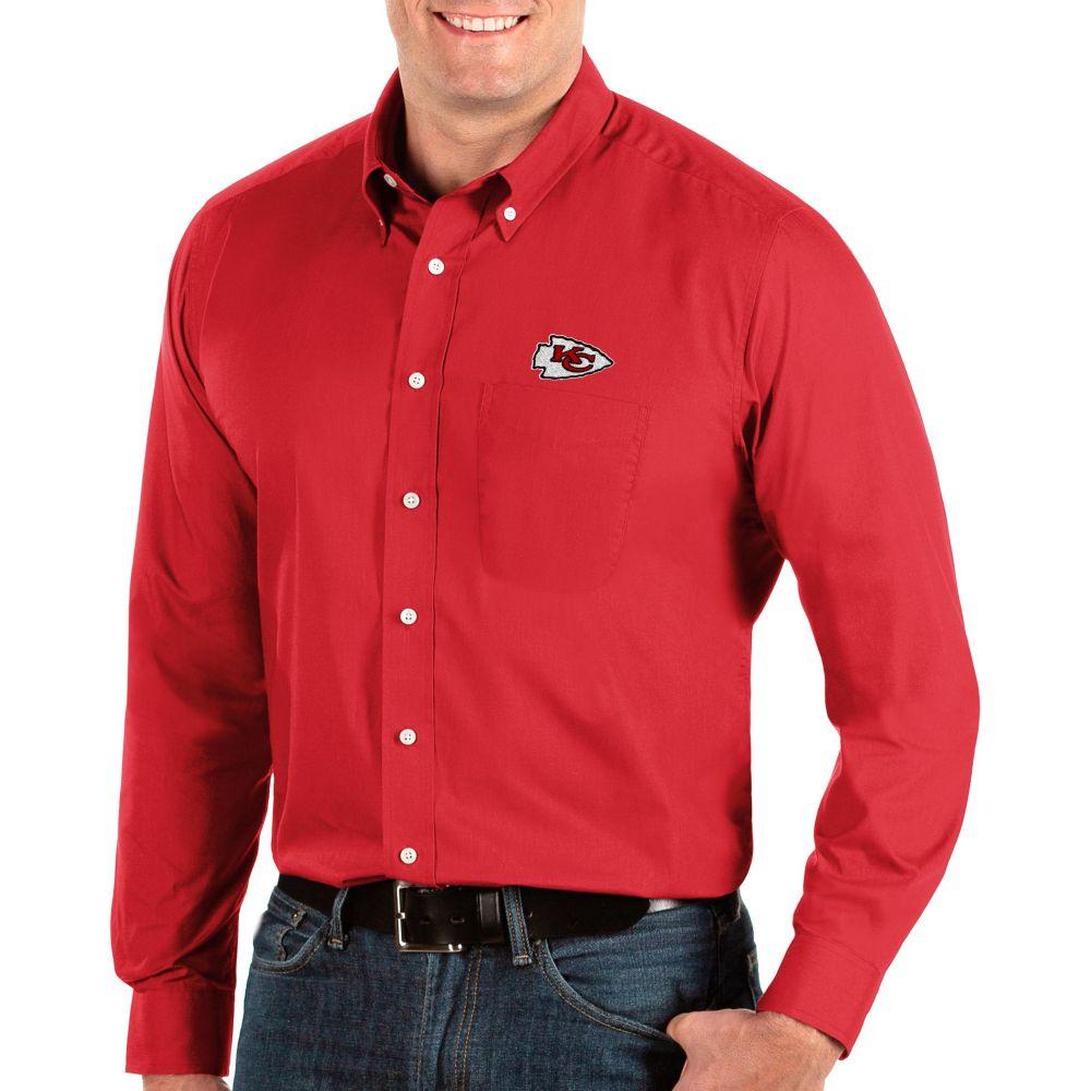 アンティグア Antigua メンズ シャツ トップス【Kansas City Chiefs Dynasty Button Down Red Dress Shirt】