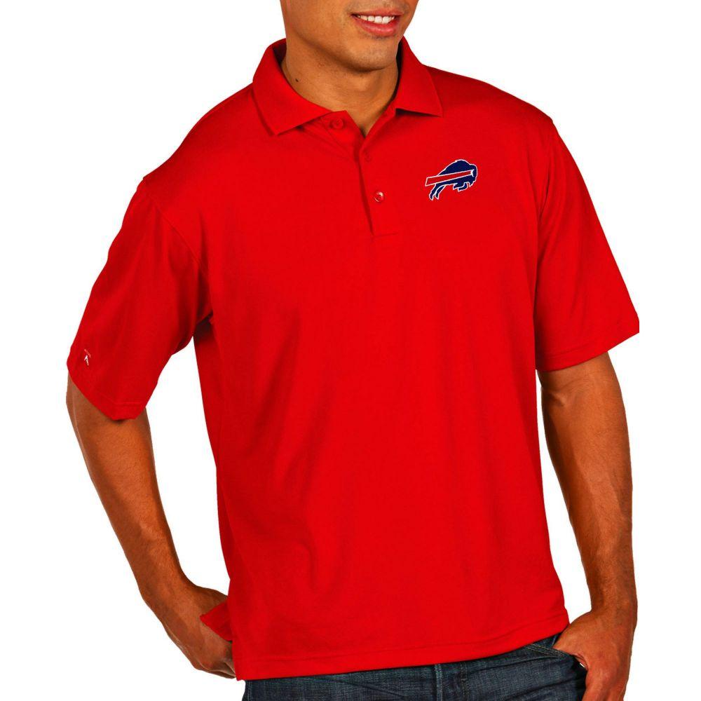 アンティグア Antigua メンズ ポロシャツ トップス【Buffalo Bills Pique Xtra-Lite Performance Red Polo】