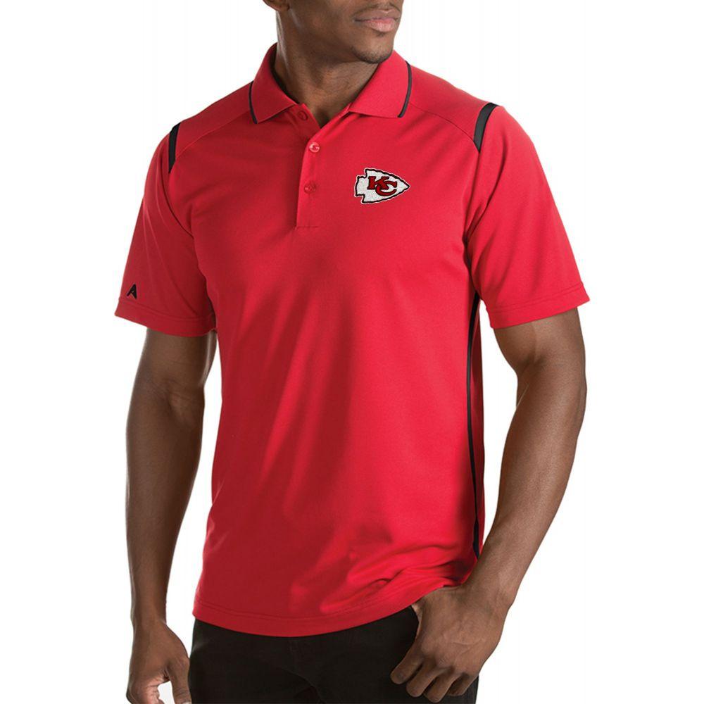 アンティグア Antigua メンズ ポロシャツ トップス【Kansas City Chiefs Merit Red Xtra-Lite Polo】