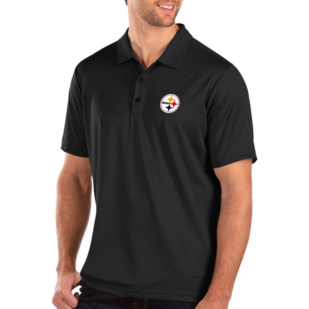 アンティグア Antigua メンズ ポロシャツ トップス【Pittsburgh Steelers Balance Black Polo】