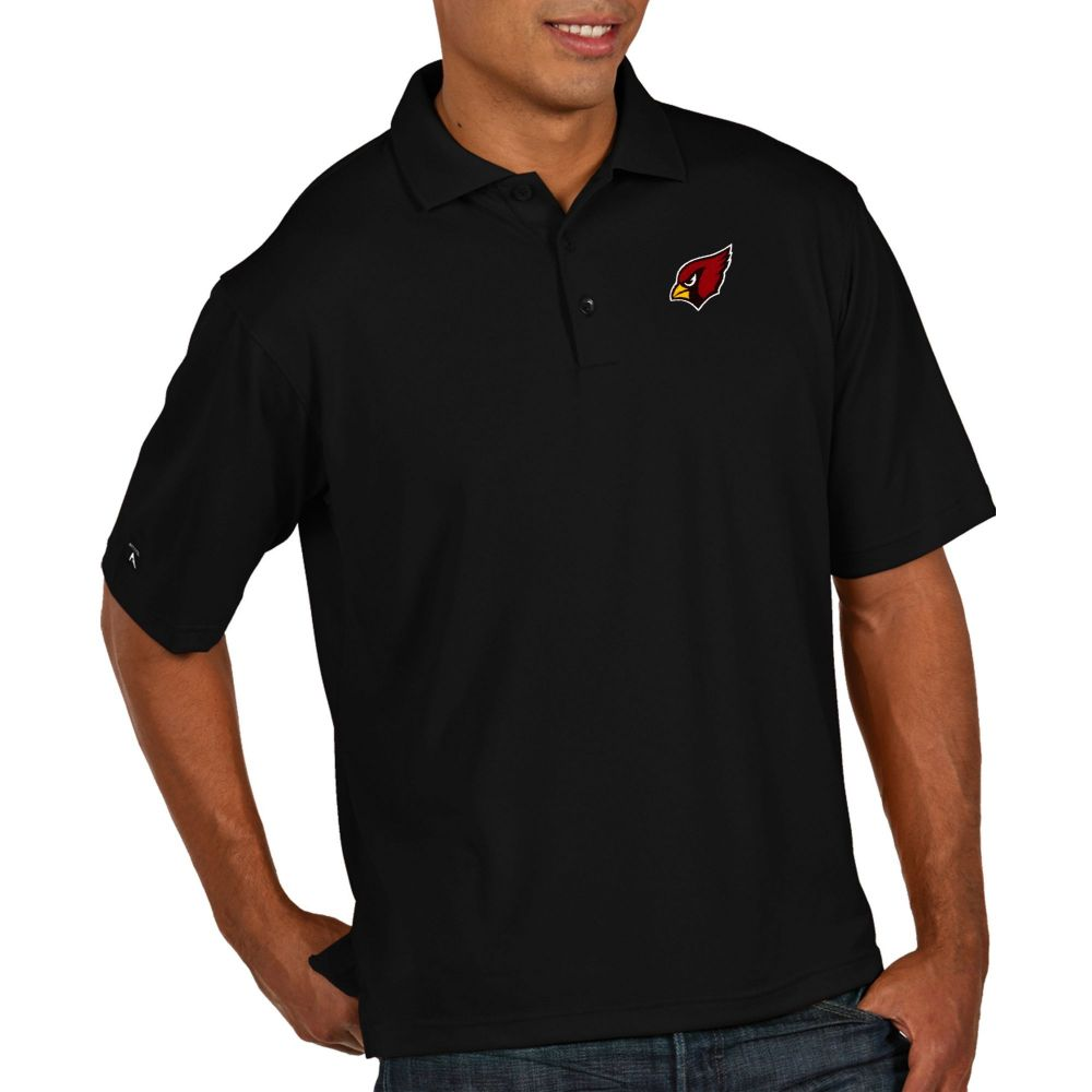 アンティグア Antigua メンズ ポロシャツ トップス【Arizona Cardinals Pique Xtra-Lite Performance Black Polo】