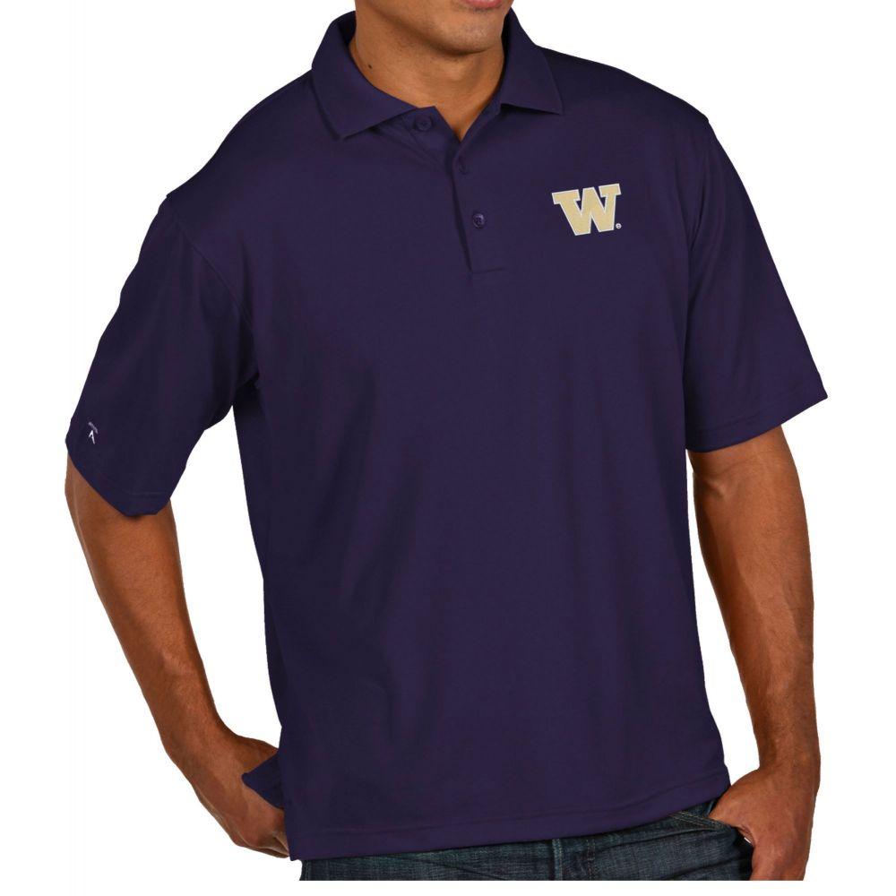 アンティグア Antigua メンズ ポロシャツ トップス【Washington Huskies Purple Pique Xtra-Lite Polo】