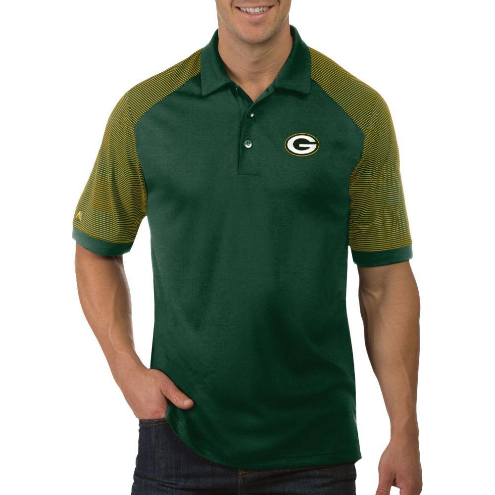 アンティグア Antigua メンズ ポロシャツ トップス【Green Bay Packers Engage Green Performance Polo】