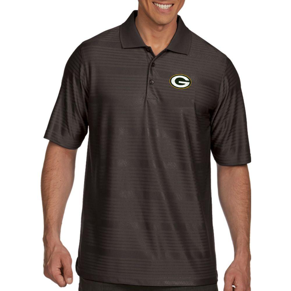 アンティグア Antigua メンズ ポロシャツ トップス【Green Bay Packers Illusion Grey Xtra-Lite Polo】