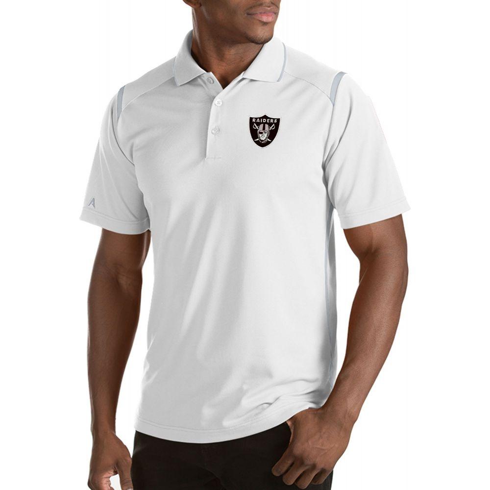 アンティグア Antigua メンズ ポロシャツ トップス【Oakland Raiders Merit White Xtra-Lite Polo】