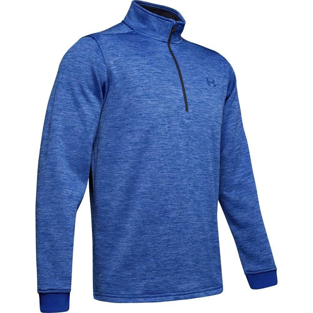 アンダーアーマー Under Armour メンズ フリース ハーフジップ トップス【Armour Fleece 1/2 Zip Long Sleeve Shirt (Regular and Big & Tall)】Royal/Black