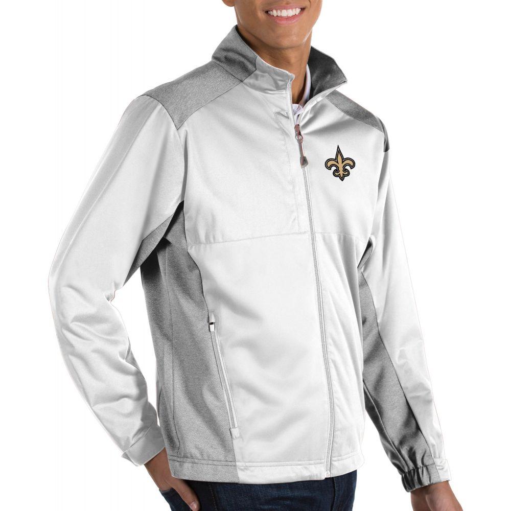 アンティグア Antigua メンズ ジャケット アウター【New Orleans Saints Revolve White Full-Zip Jacket】