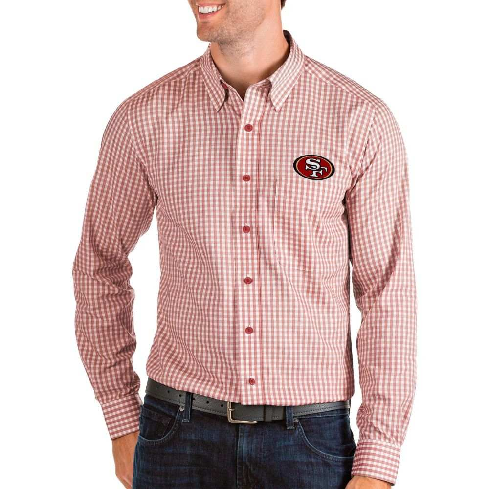 アンティグア Antigua メンズ シャツ トップス【San Francisco 49ers Structure Button Down Red Dress Shirt】
