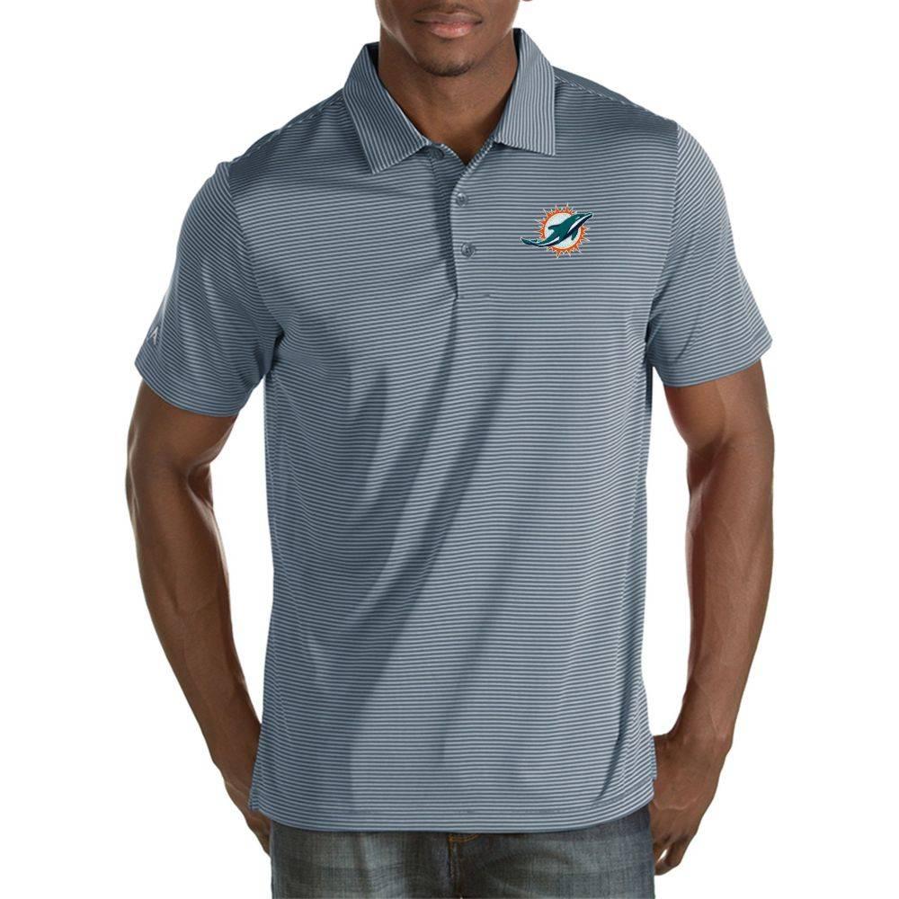 アンティグア Antigua メンズ ポロシャツ トップス【Miami Dolphins Quest Grey Polo】