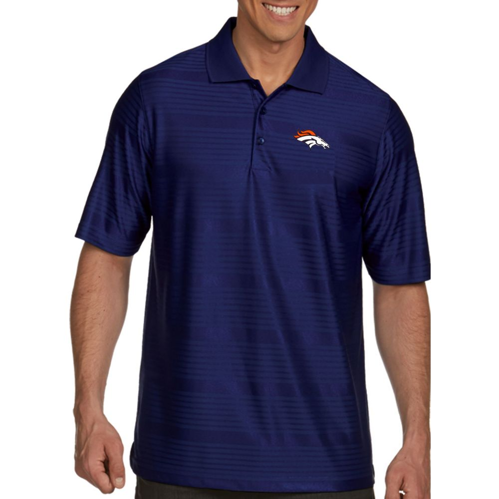 アンティグア Antigua メンズ ポロシャツ トップス【Denver Broncos Illusion Navy Xtra-Lite Polo】