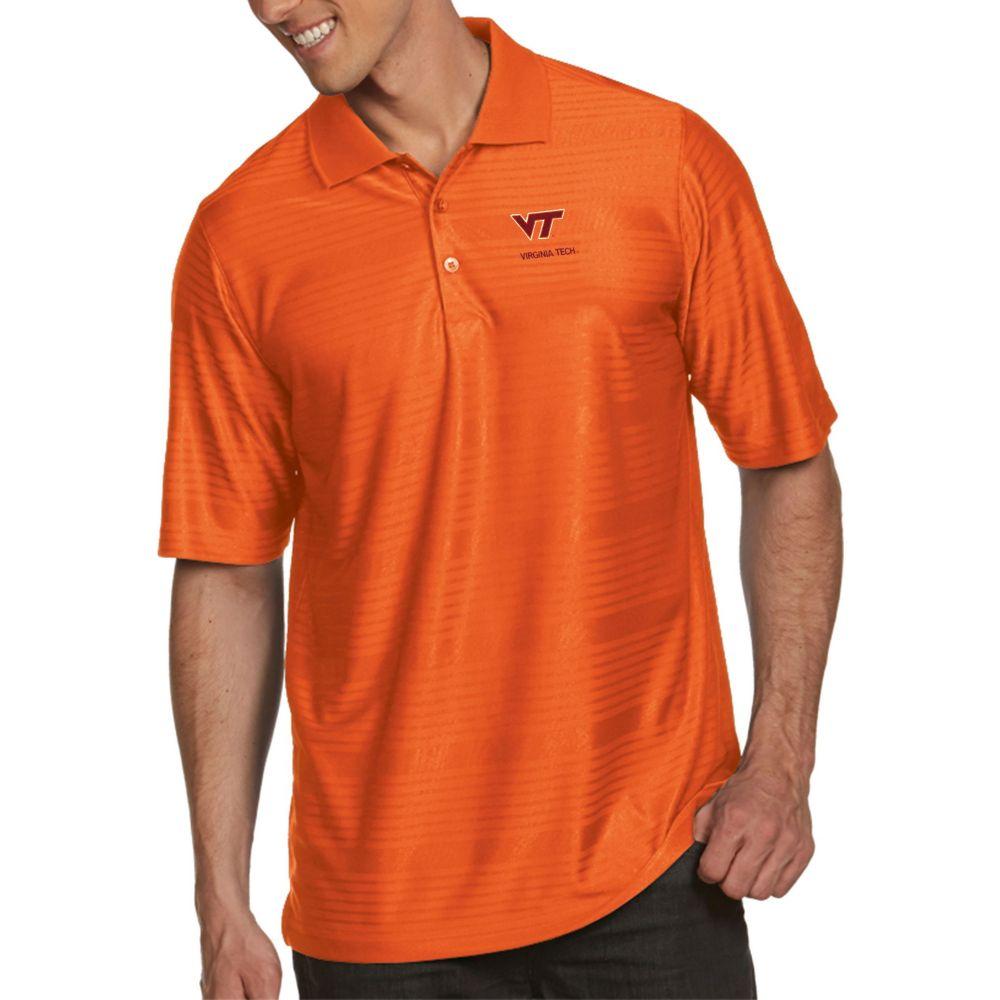 アンティグア Antigua メンズ ポロシャツ トップス【Virginia Tech Hokies Burnt Orange Illusion Polo】