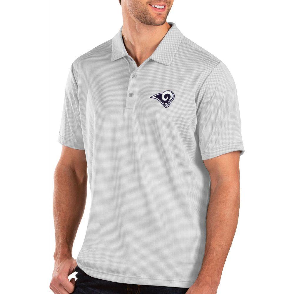アンティグア Antigua メンズ ポロシャツ トップス【Los Angeles Rams Balance White Polo】