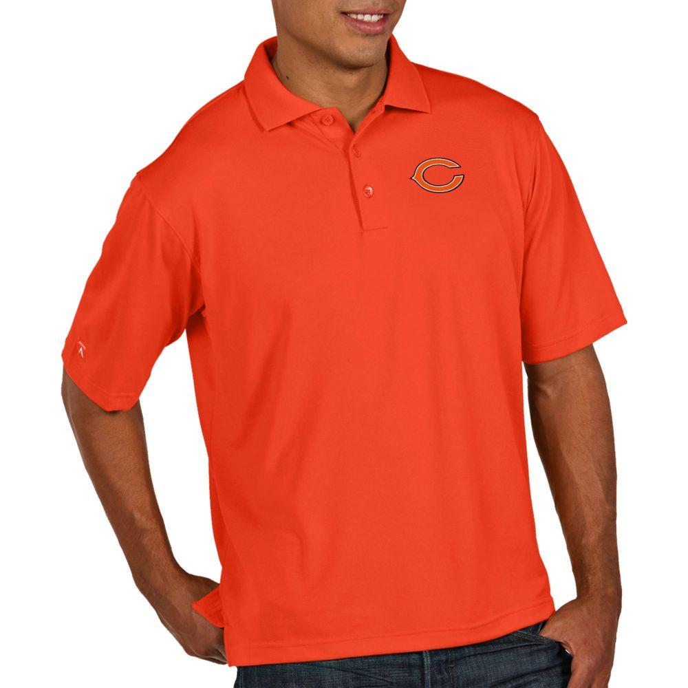 アンティグア Antigua メンズ ポロシャツ トップス【Chicago Bears Pique Xtra-Lite Performance Orange Polo】