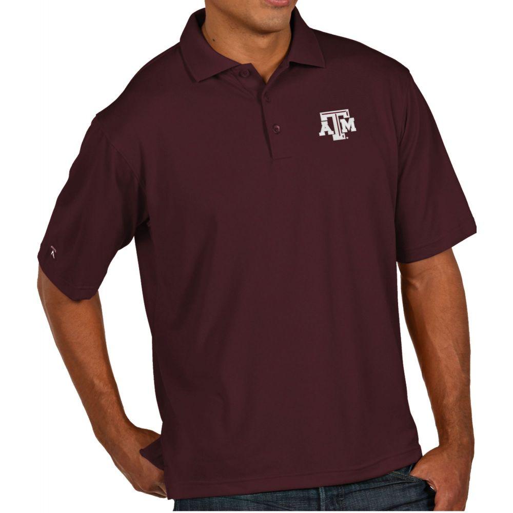 アンティグア Antigua メンズ ポロシャツ トップス【Texas A&M Aggies Maroon Pique Xtra-Lite Polo】