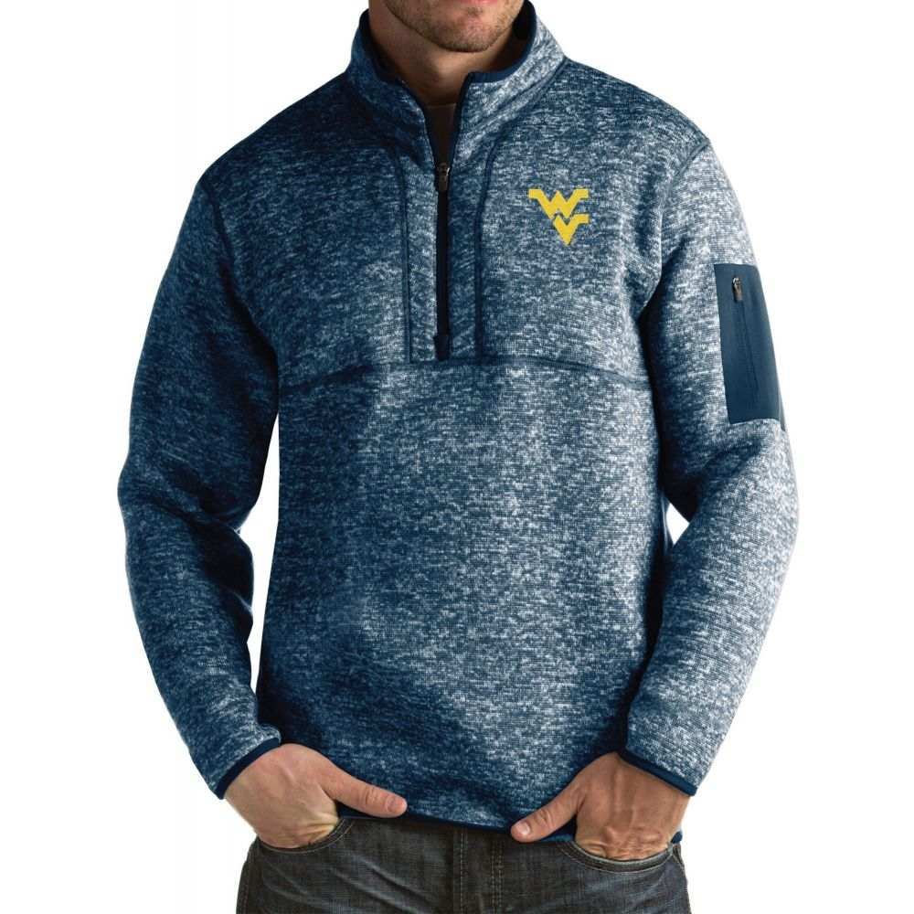 アンティグア Antigua メンズ ジャケット アウター【West Virginia Blue Fortune Pullover Jacket】