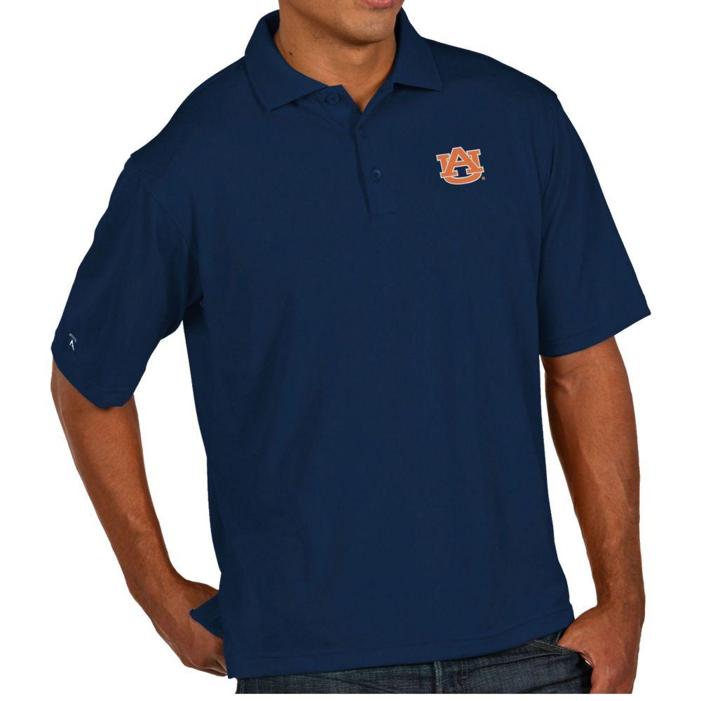 アンティグア Antigua メンズ ポロシャツ トップス【Auburn Tigers Blue Pique Xtra-Lite Polo】