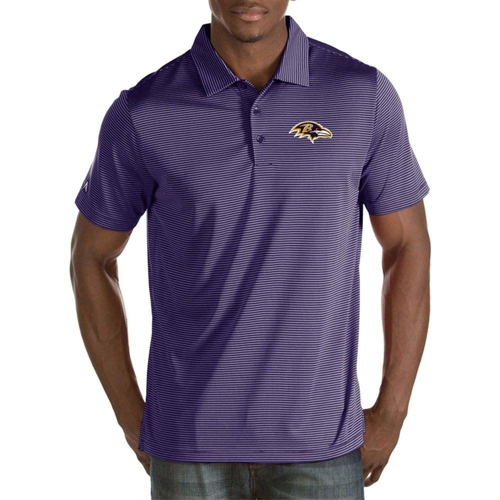 アンティグア Antigua メンズ ポロシャツ トップス【Baltimore Ravens Quest Purple Polo】