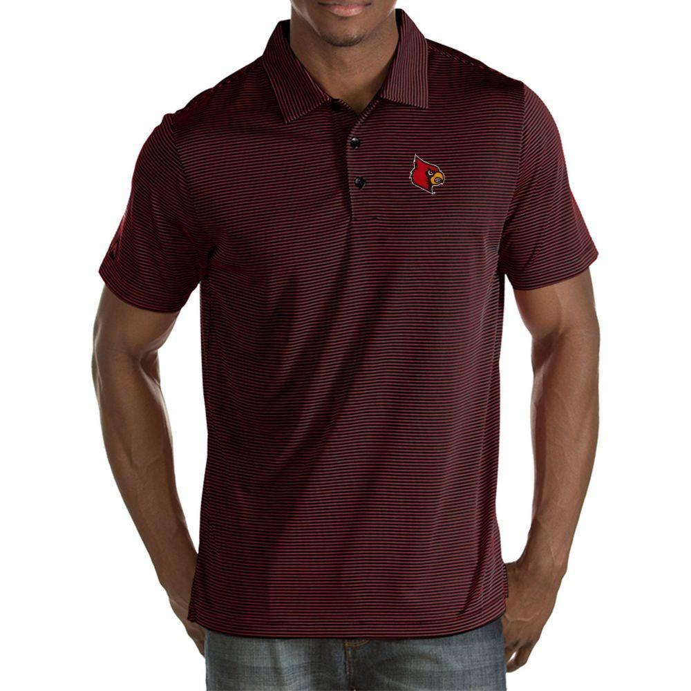 アンティグア Antigua メンズ ポロシャツ トップス【Louisville Cardinals Black Quest Polo】